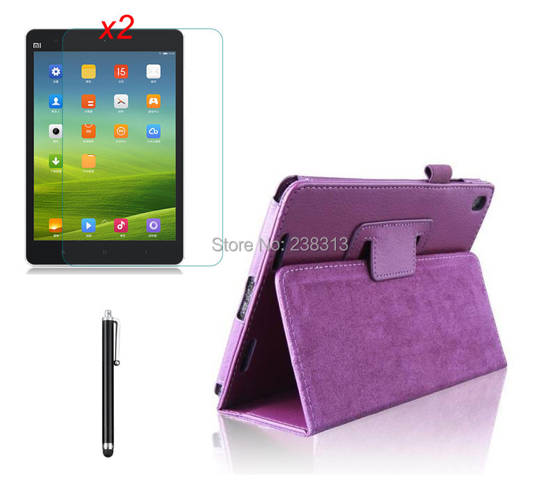 Stylus For Xiaomi Pad Mipad Mi Pad 7.9 Sales Of Quality Assurance Clear Films 2 High Quality Slim Litchi Grain Folio Leather Skin Cover Case Stand