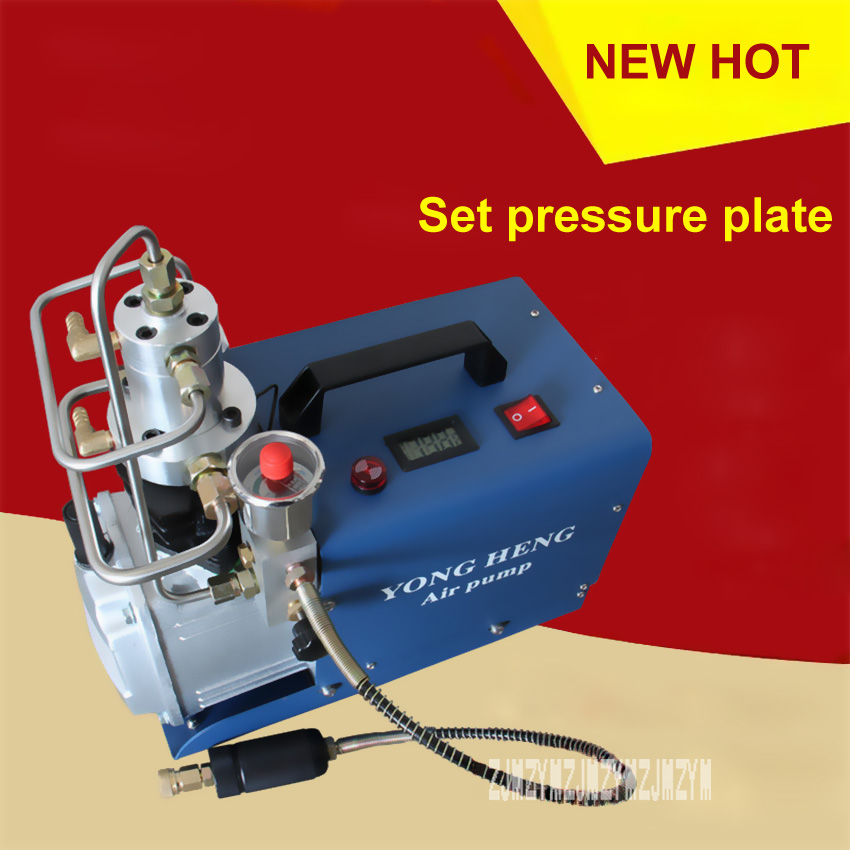 New 220V / 110V Set Pressure Section Electric High Pressure Air Pump Water Cooling Single Cylinder 0-30MPa 50L / min 1.8KW Hot 2017 top fashion new arrival piston pump 0 40mpa high pressure air pump cooling electric mini inor pcp compressor 220v