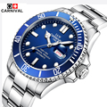 New CARNIVAL Mens Watches Top Brand Luxury Diver 30M Super Luminous Sapphire Glass Automatic Mechanical Watch relogio masculino