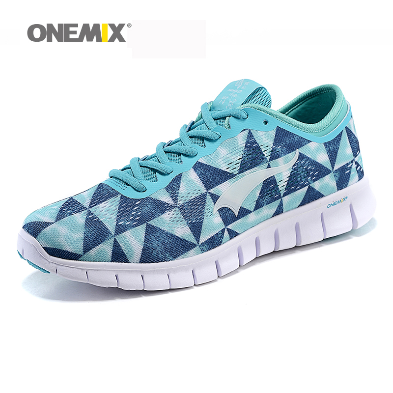 Onemix Running Shoes Sports Sneakers for Man & Women Outdoor Sports Spring Autumn Cozy <font><b>Racer</b></font> Knit Vamp Ultralight Shoes