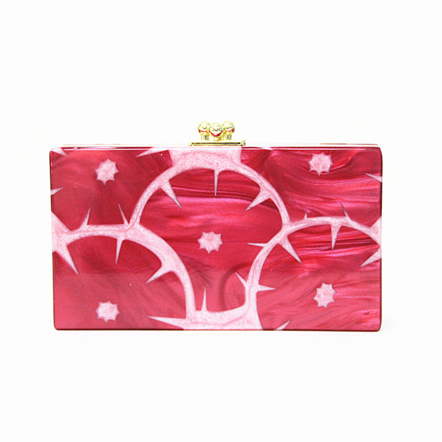 2016 Women messenger bag brand new fashion pearl fruit acrylic Evening Bag Clutch Bridesmaid Shoulder Party Geometric Hand Bag