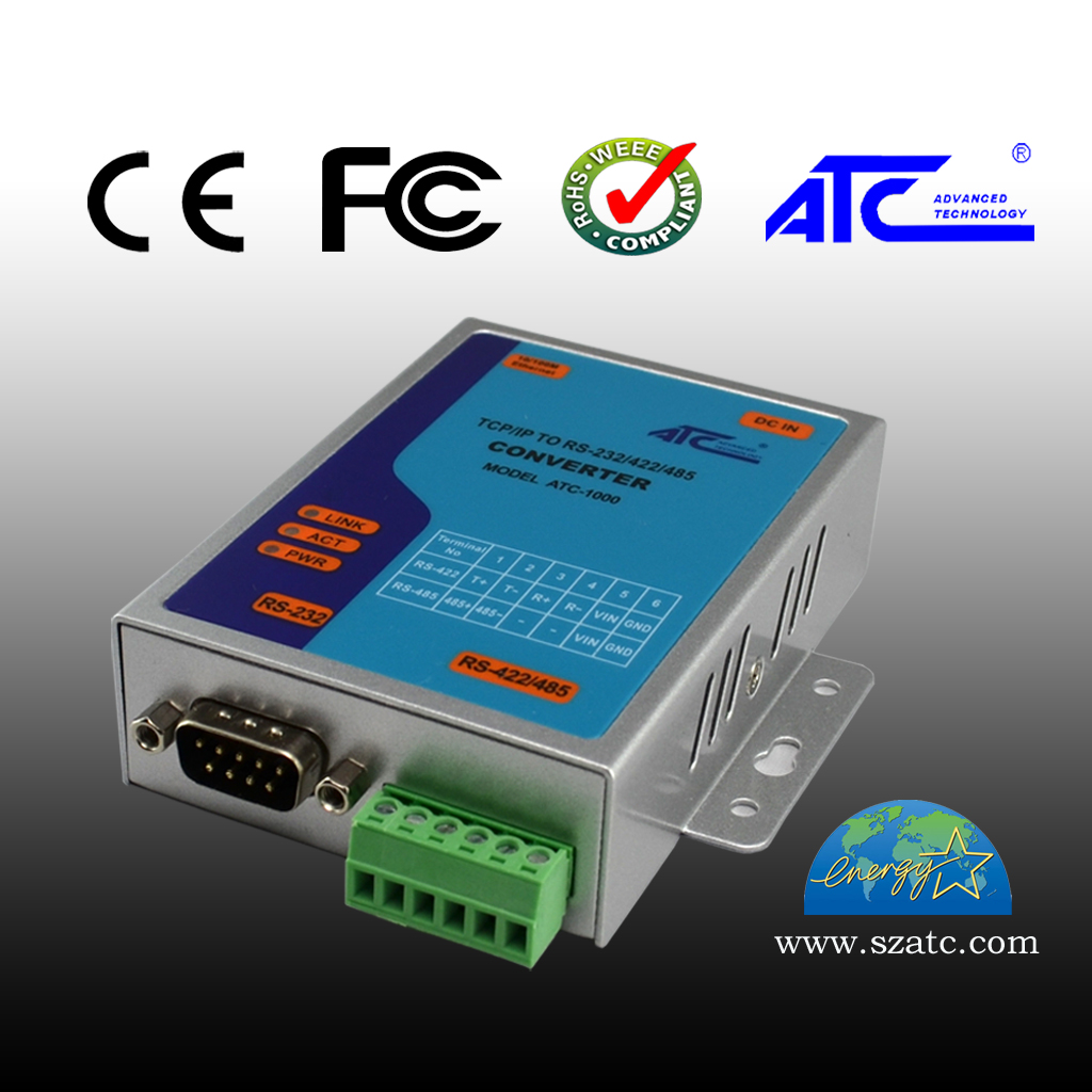 Serial Server 232 to Ethernet to RS485/422 Network Converter Communication Module ATC-1000