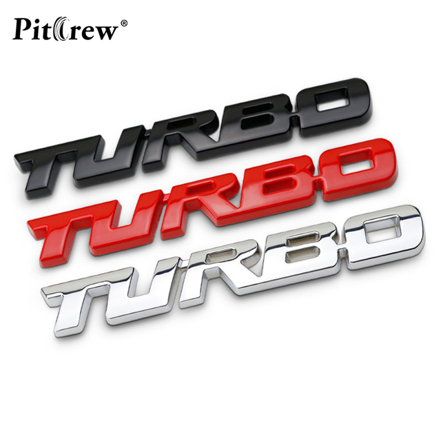 Turbo logo metal sticker custom stereo letter motorcycle car stickers diy emblem sticker car styling car