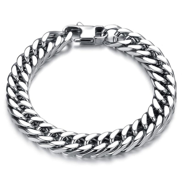 Chain Link Bracelet Men Stainless Steel Jewelry Bracelets Bangles Male Accessories Fashion