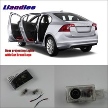 Liandlee Plug and Play Courtesy Doors Lights For Volvo V40 2013~2014 Led Brand Logo Projector Welcome Light Ghost Shadow Lamp liandlee plug and play car courtesy doors lights for volvo s80 2013 2014 brand logo projector welcome light ghost shadow lamp