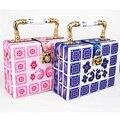 Fashion Brand Designer Pink printing ceramic handle women's handbag Blue shoulder bags Candy purse Feast Tote Evening Bag z803