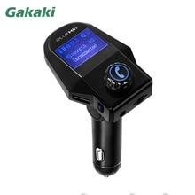 Gakaki Hands-Free Bluetooth-гарнитуры для авто fm-передатчик Радио адаптер aux приемник USB Зарядное устройство 2 Порты зарядки телефона MP3 Динамик