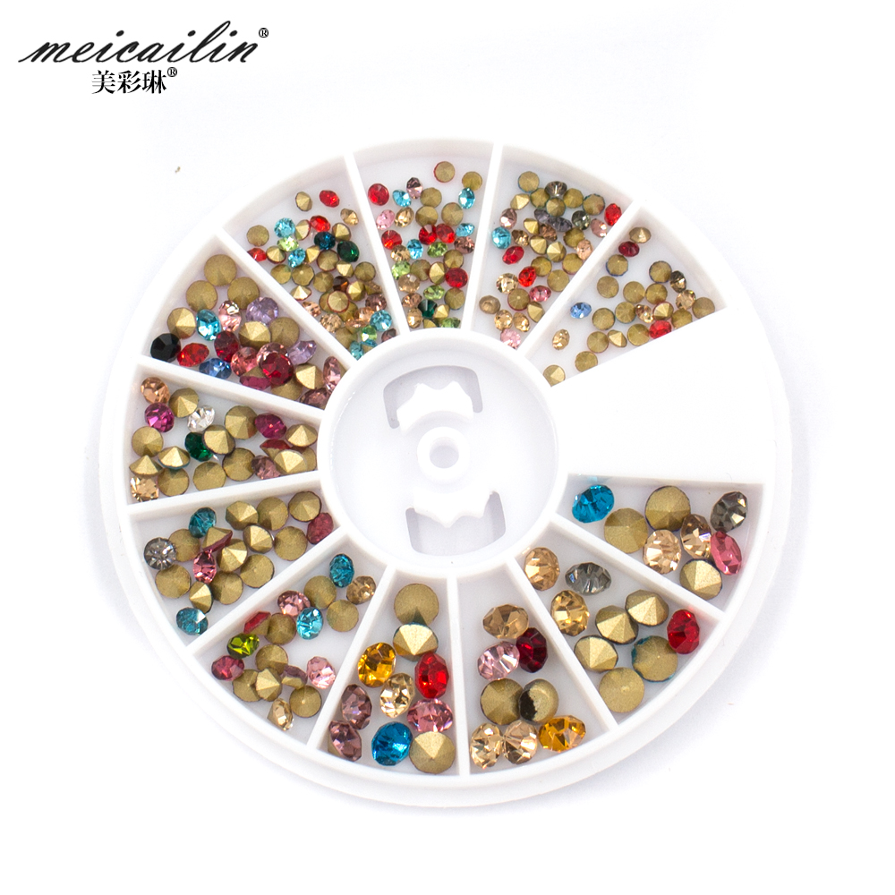 2017 new arrival 1wheel 3d nail art rhinestone diy alloy for 3d nail art decoration