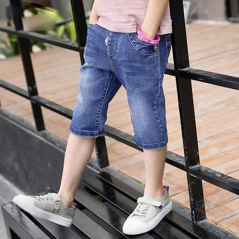 Letnie spodenki dla dzieci dżinsy dla chłopca fajny styl Denim majtki chłopięce spodenki dżinsowe dla dzieci młodzieży spodenki jeansowe na co dzień 4Y-16Y