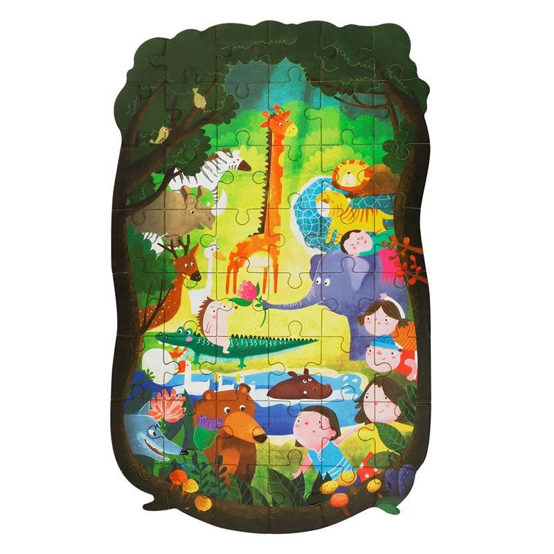 Robud Для детей 48 шт. деревянные головоломки замечательный лесные Приключения Популярные Развивающие игрушки хобби YX001