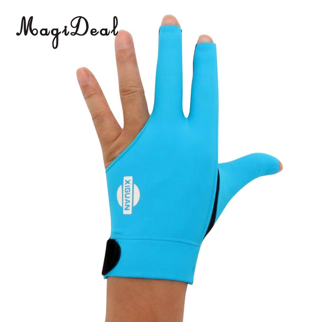 MagiDeal 3-Finger Professional Elastic Left Hand Snooker Pool Cue Billiard Glove for Funny Indoor Billiard Table Game Supplies