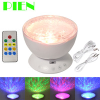 Night Lights Ocean Wave Projector Starry Sky LED Lamp Music Player Remote Control For Bedroom Xmas