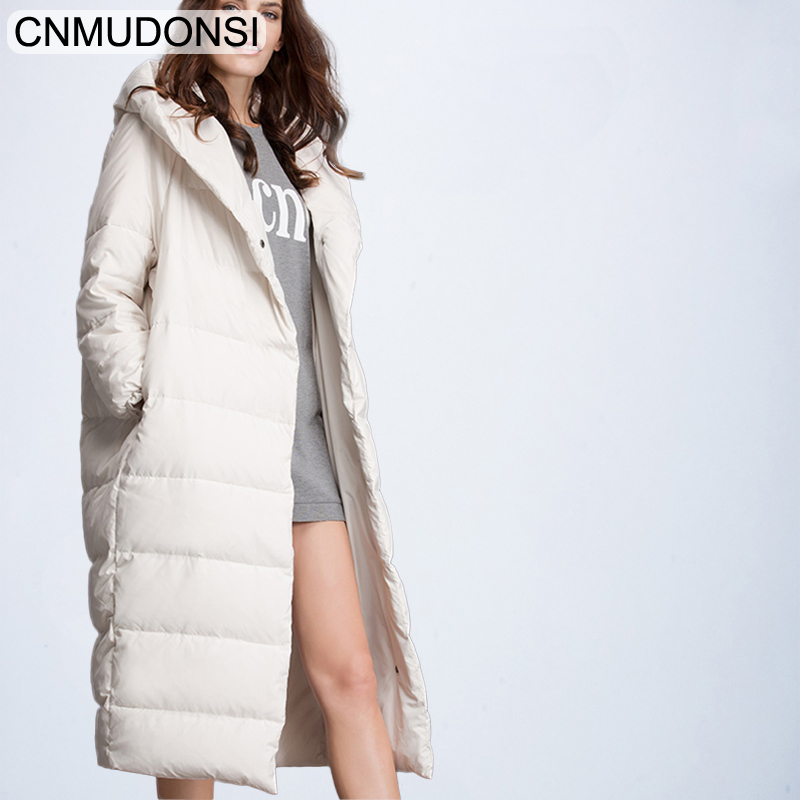 CNMUDONSI de Femmes D'hiver De Mode Veste Épaisse Manteau Chaud Lady Coton Parka Veste Longue jaqueta veste D'hiver avec capuche Feminina - 3