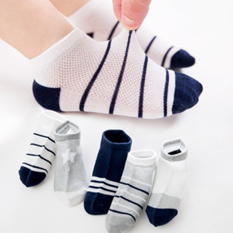 2019 New Kids Socks 5 Pairs/Lot Cartoon Socks Children Socks For Boys Girls Spring Summer Wear Baby Socks Stripe Sport Socks