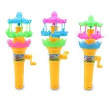 цена на New Children's Educational Toys Fun Hand-cranked Toy Lighting Rotating Paradise Children's Educational Toys