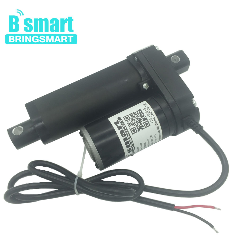 цена на Bringsmart SRF 50mm Stroke Length 2 Inch Linear Actuator 12V DC Motor 500-3500N 3-30mm/s 24V 48V for Electric Window Actuator