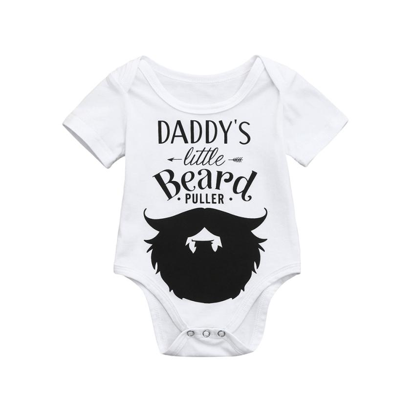 Cute Newborn Kids Baby Letter Print Boys Girls Outfits Clothes Romper Jumpsuit 0403