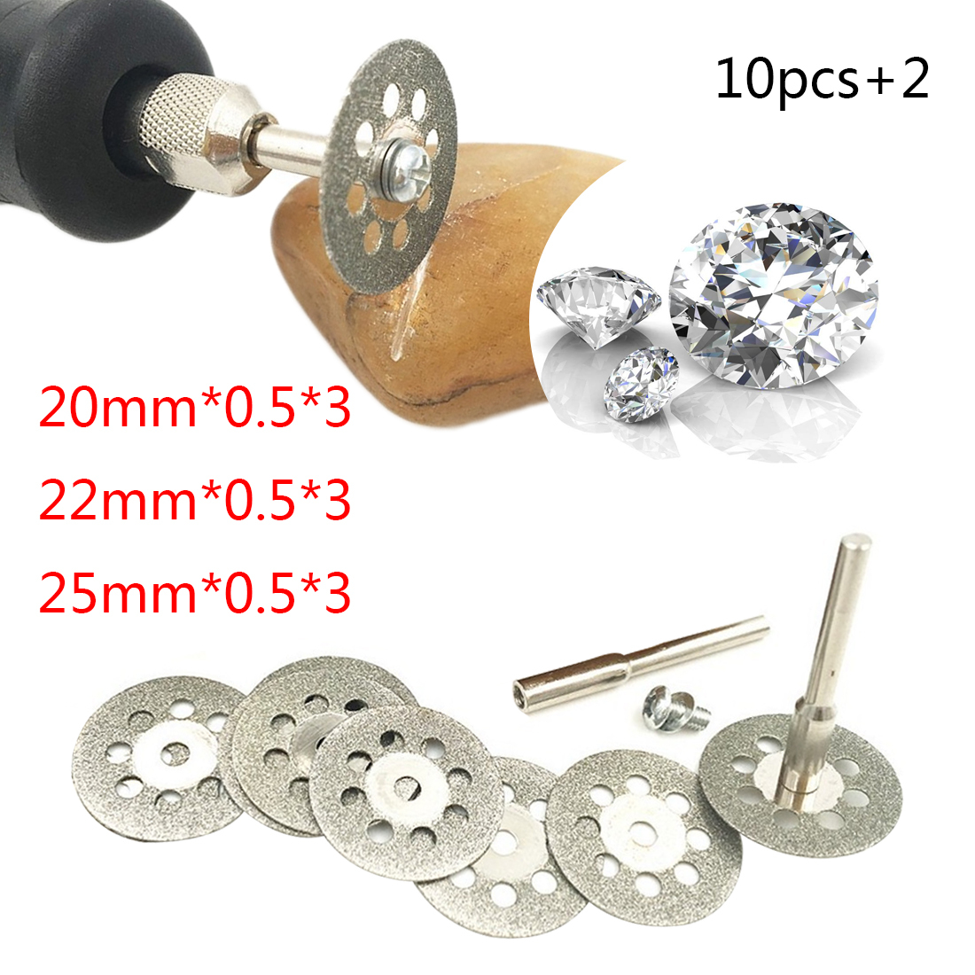 Tool Set 10pcs/5pcs Dremel Diamond Grinding Wheel Saw Cutting Abrasive Disc For Dremel Rotary Tools Accessories With Mandrel