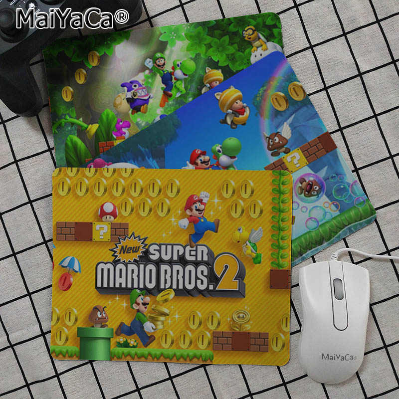 MaiYaCa New Designs super mario bros wii Customized laptop Gaming mouse pad Smooth Writing Pad Desktops Mate gaming mouse pad