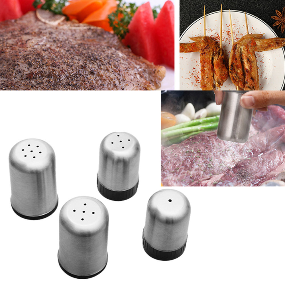 Dr.meter Premium Pepper and Salt Grinder Set for Kitchen Camping and BBQ 5.3oz//150g Peppercorns Brushed Stainless Steel Pepper Mill 2 Packs
