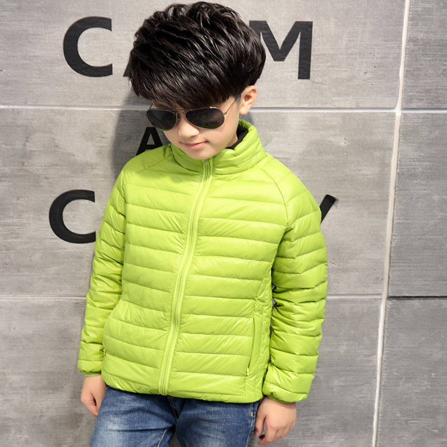 High quality children Down jacket Kids Outerwear 8-12 years old high Turtleneck long sleeve boys girl Clothes 2017 Autumn Winter total quality 500g 12 years old gaoli