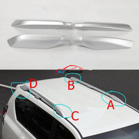 Black Silver ABS Roof Rack Bar Rail End Protection Cover Shell 4PCS For Toyota Land Cruiser