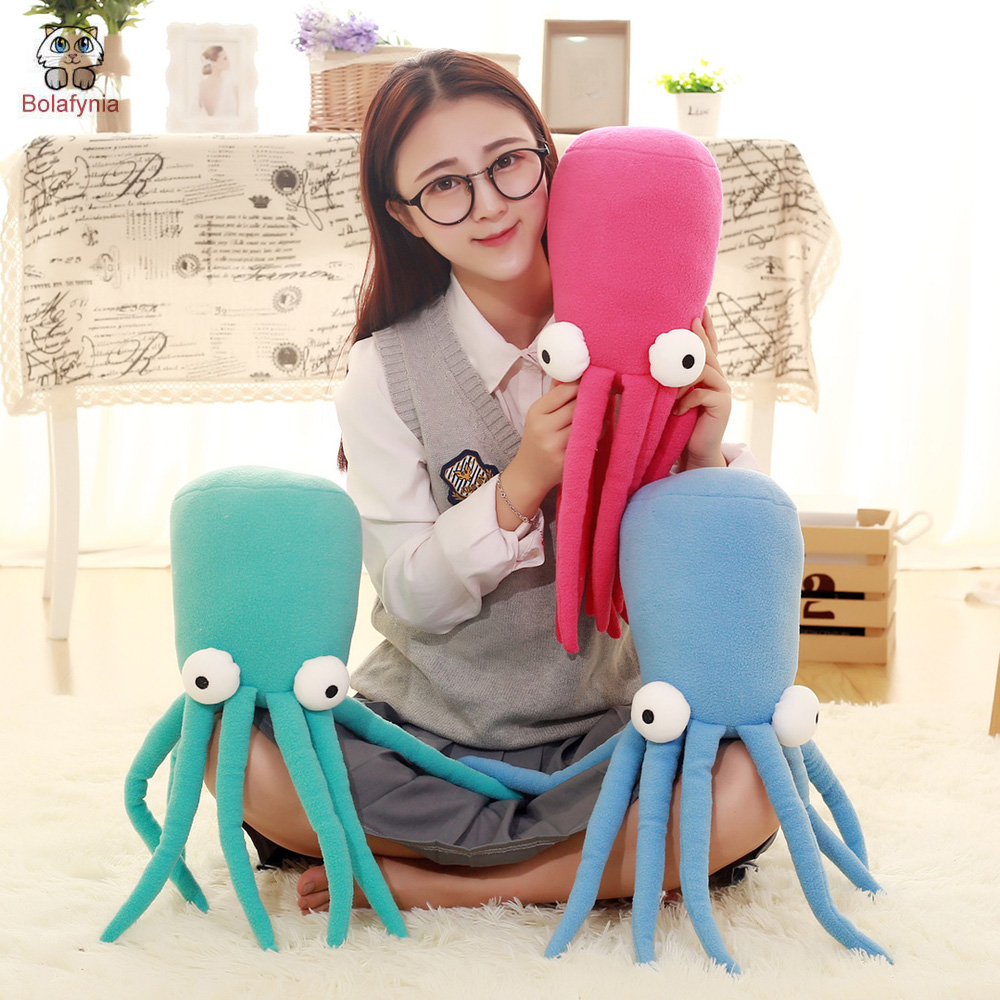 BOLAFYNIA Children plush stuffed toy Octopus doll sea animal pillow baby kids plush toy for Christmas birthday gift