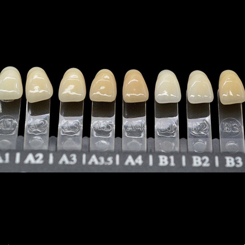 New Toothguide Dental 16 Colors Contrast Bleached Shade Guide Resin Teeth Colorimetric for Teeth Whitening Comparison professional dental porcelain pan classical 20 colors 3d teeth whitening shade guide clinic tooth whiter effective comparator