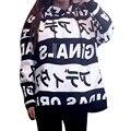 2016 Новая Мода Осень Зима Женщин Капюшоном Толстовка Письмо Печати С Капюшоном Рубашка Случайные Свободные Стиль C828