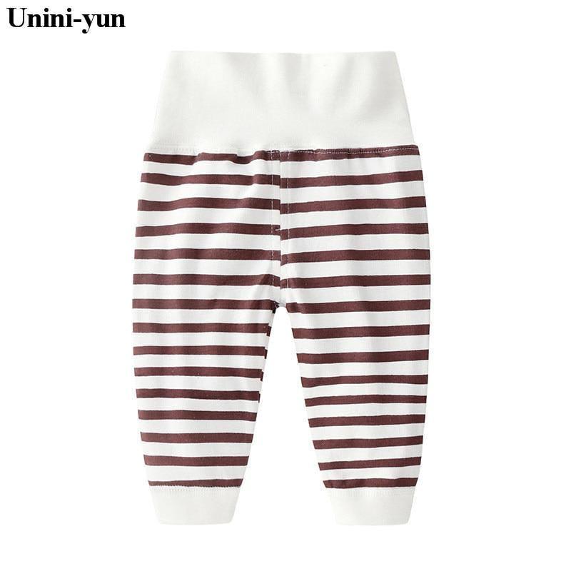 Unini-yun Brand Baby Cotton Pants Girls Boys Baby Pants Causal Baby Trousers Kids Children Clothes high waist newborns pants