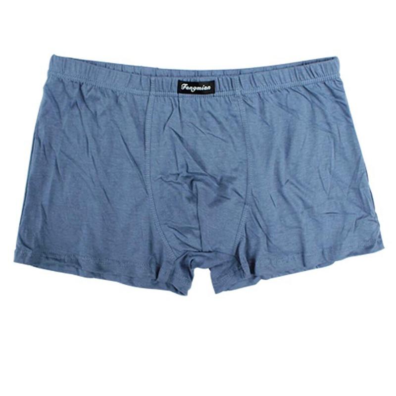 5 Pcs Men Big Size Boxers Loose Underwear Classic Solid Pants 5XL 6XL 7XL 8XL