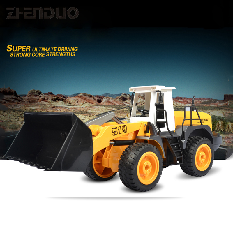 ZhenDuo Toys E519-001 1:20 RC Remote Control Car Forklift Truck Excavator Bulldozer Charging Engineering Vehicle Children Toy