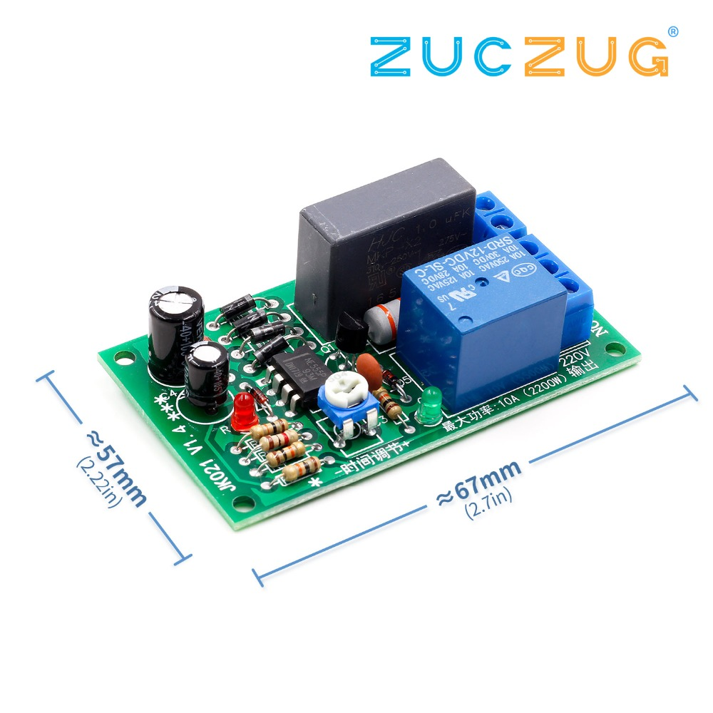 AC 220V Adjustable Timer Delay Switch Turn On/Off Time Relay Module L15