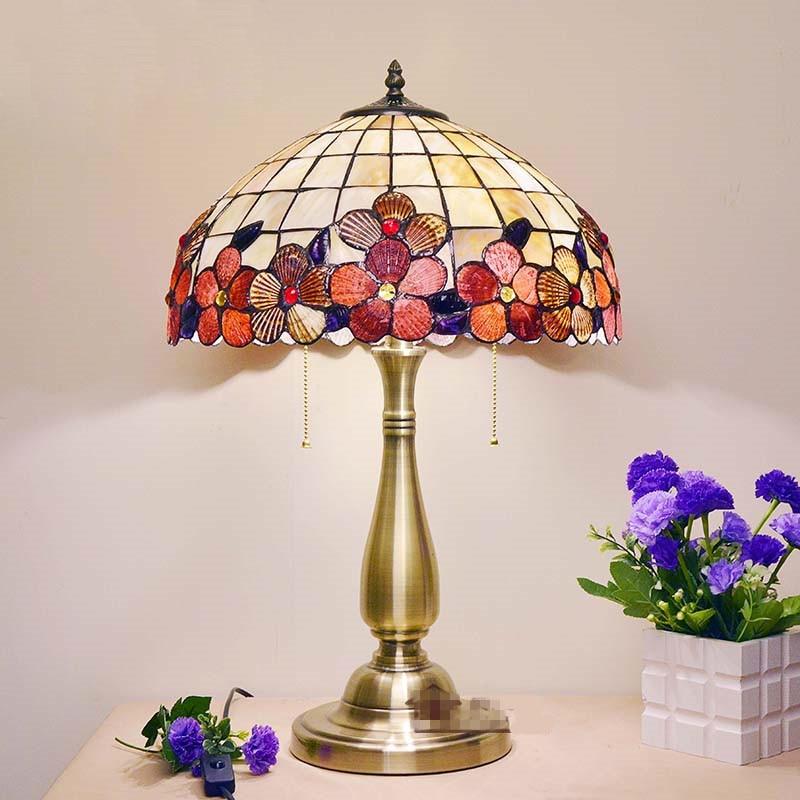 BOCHSBC Art Deco Bureau Led Lamp Pioen Shell Tafel Lichten Europese tafel Lampada da tavolo Lamp Voor Woonkamer Studeerkamer Slaapkamer - 6