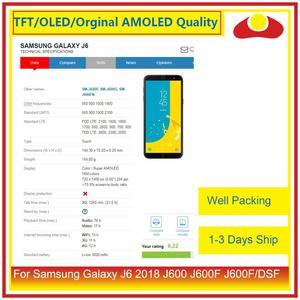 Image 5 - 50 Pcs/lot DHL pour Samsung Galaxy J6 2018 J600 J600F J600FN affichage à cristaux liquides avec écran tactile numériseur panneau approvisionné