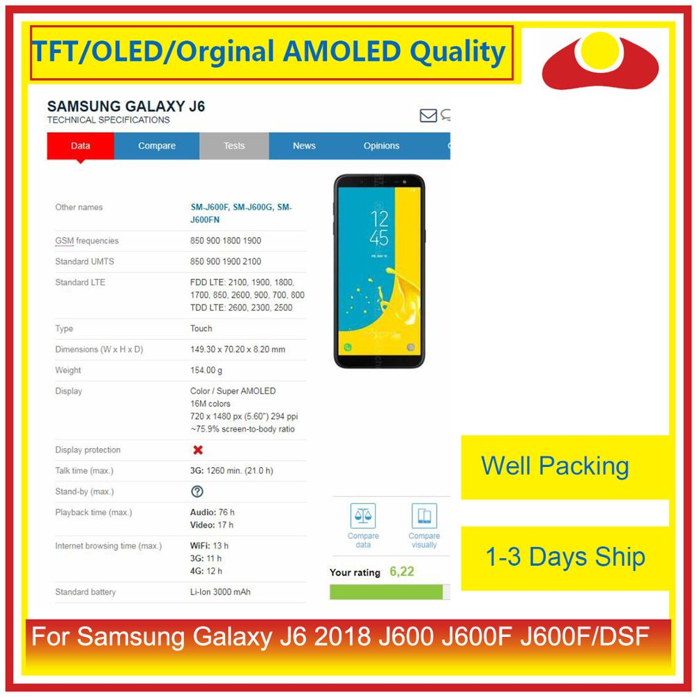 "Image 5 - ORIGINAL 5.6"" For Samsung Galaxy J6 2018 J600 J600F J600FN LCD Display With Touch Screen Digitizer Panel Pantalla Complete-in Mobile Phone LCD Screens from Cellphones & Telecommunications"