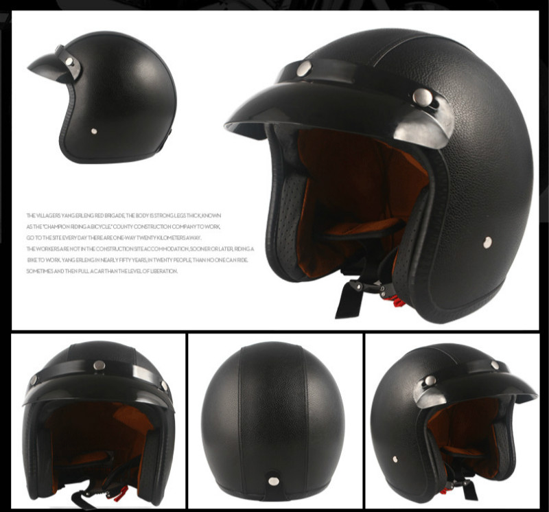 Image 3 - Helmets for Cross country Motorcycles Sunscreen Locomotives Half helmets Four season Electric Vehicle Safety Helmet-in Helmets from Automobiles & Motorcycles