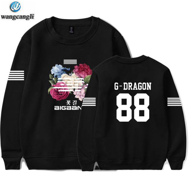 Bigbang big bang bangtan hoodie kpop korean harajuku hoodies sweatshirt moletom feminino fashion brand tracksuit plus size 4xl