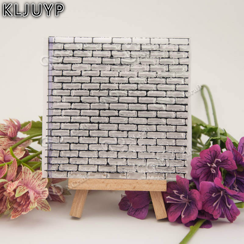 Brick wall background Transparent Clear Silicone StampSeal for DIY scrapbookingphoto album Decorative clear stamp sheets