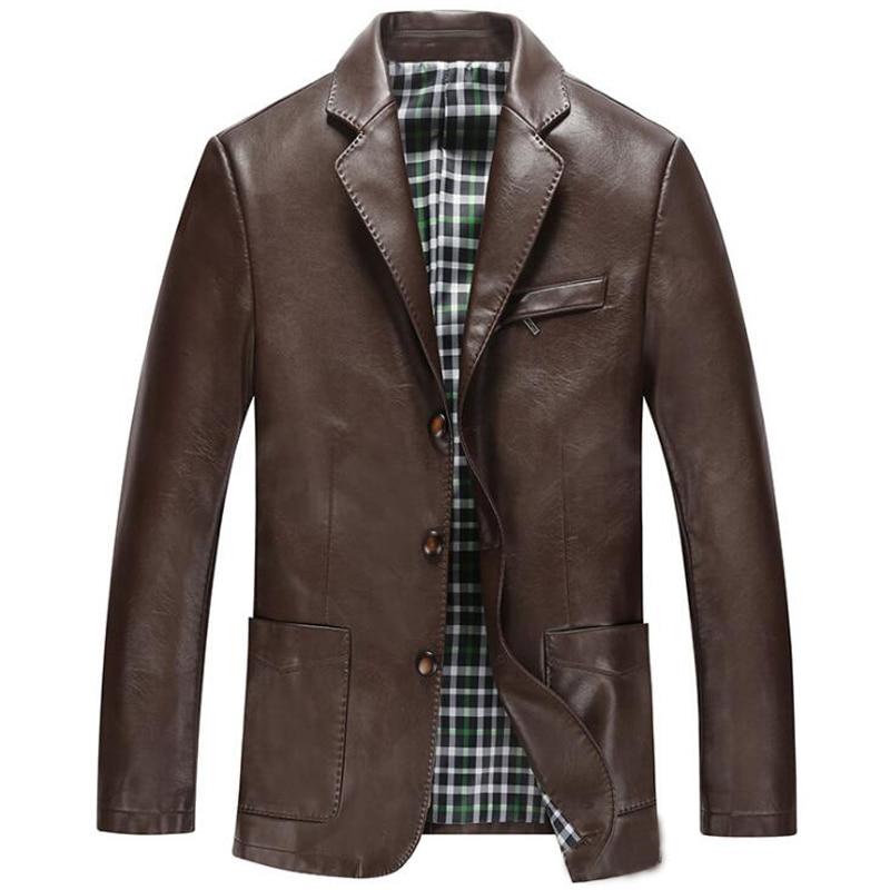 Online Get Cheap Men Short Leather Jacket -Aliexpress.com ...