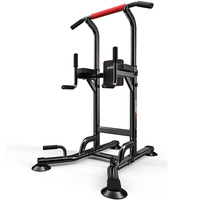 2019 New Integrated Fitness Equipments Power Tower Adjustable Heights Workout Dip Station Home Gym Strength Training Men