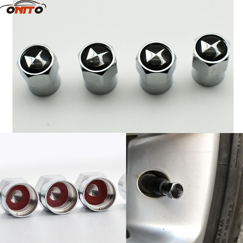 Auto Accessories 10Set DS logo Hexagon Car Tire Valve Caps Dust Cover motorcycle Bicycle Wheel Tyre Air Valve Caps