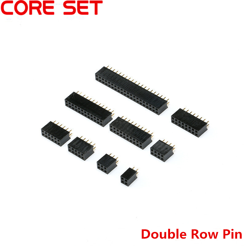 10PCS Double Row Pin Stright Female 2.54mm Pitch Connector 2*2P 3P 4P 5P 6P 8P 10P 12P 16P 40P Header Strip PCB lying posted zh1 5mm pitch 1 5 connector 2p 3p 4p 5p 6p 8p horizontal outlet patch