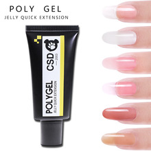 7Colors 30ml Soak off Poly Gel UV Acryl Quick Building Finger Extension Nail Pink White Clear Crysta LED Builder