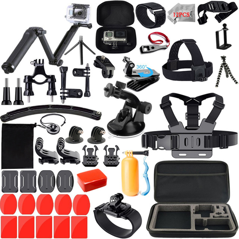 Action Cmaera Accessories Kit for Gopro / Go pro Hero 7 6 5 Waterproof Housing Set for Gopro Hero7 5 6 Black Camera 55A
