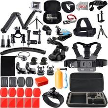 Набор аксессуаров для экшн Камеры Gopro / Go pro Hero 8 7 6, набор водонепроницаемых чехлов для Gopro Hero7 5 6, Черная Камера 55A