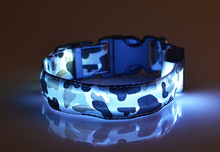 Nylon collar   LED flash luminous collars