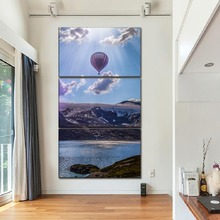 Canvas Pictures For Living Room Home Decor Framework 3 Pieces Hot Air Balloon And Landscape Paintings HD Prints Poster Wall Art