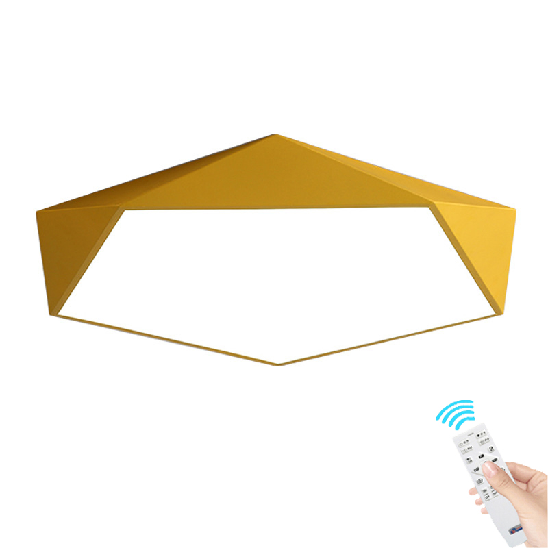 Modern macaron Nordic personality creative geometry Ceiling light living room bedroom dining room study LED ceiling lamp modern artistic minimalism led rhombus ceiling light round indoor down lamp creative personality study dining room
