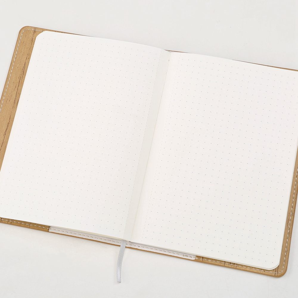 a6 pocket book small notebook with 80 sheets cream paper dotted